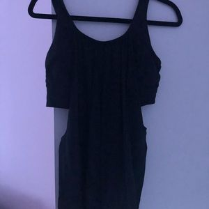 Lululemon black workout tank with built in bra